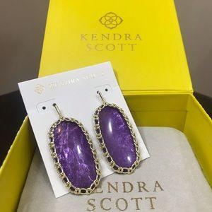 Kendra Scott Gold Macrame Danielle's - Purple Mica